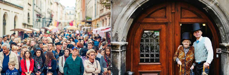 Lviv Virmenska Street, Lviv Virmenska Caddesi, Свято вулиці Вірменської, Lviv Caddeleri, Ukrayna Lviv Sokakları, Lviv in en canlı yerleri