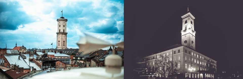 Lviv City Hall, Lviv Belediye Binası, Lviv Kuş Bakışı, Lvov Merkezi, Lviv i nerden yukarıdan göre bilirim, Lviv Gözlem Kulesine Nasıl Çıkılır