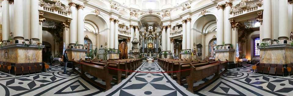 Lviv Dominican Church, Lviv Dominik Katedrali, - Yevharıstii Tapınağı, Lviv Kiliseleri, Lviv Katedral, Lviv ibadethane, Lviv de görülmesi gereken yerler