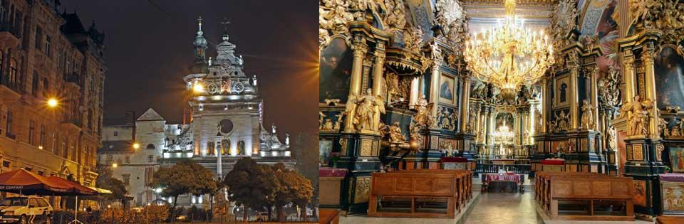 Lviv St Andrew Church, Andrew Church, Catholic church, Ukrayna Lviv Kiliseleri, Lviv Katolik Kiliseleri, Lviv Ortodoks Kiliseleri, Lviv ibadet yerleri