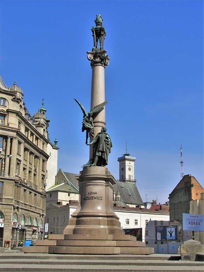 Lviv Adam Mickiewicz Anıtı | Lviv Haber